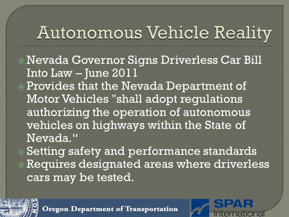 Autonomous Vehicle Reality