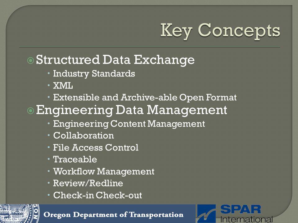 Key Concepts Structured Data Exchange Engineering Data Management