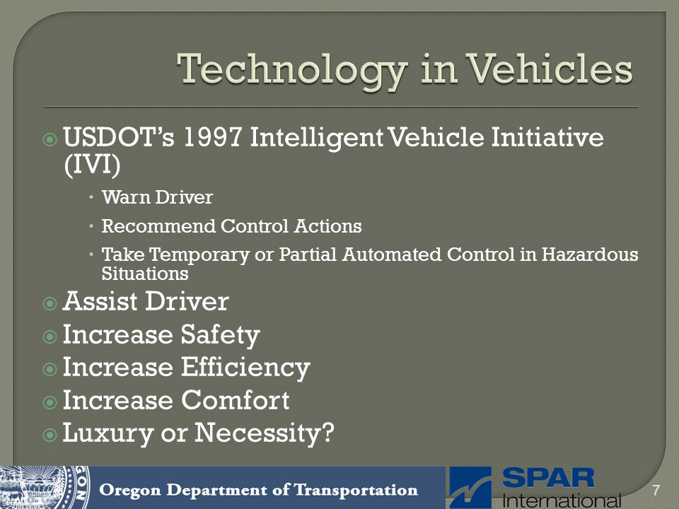 Technology in Vehicles