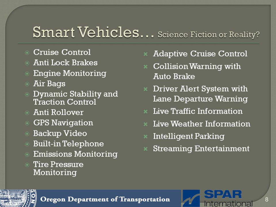 Smart Vehicles… Science Fiction or Reality