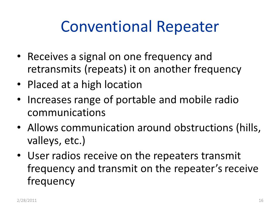 Conventional Repeater
