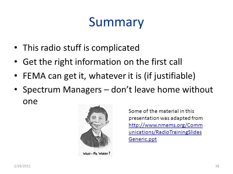 Summary This radio stuff is complicated