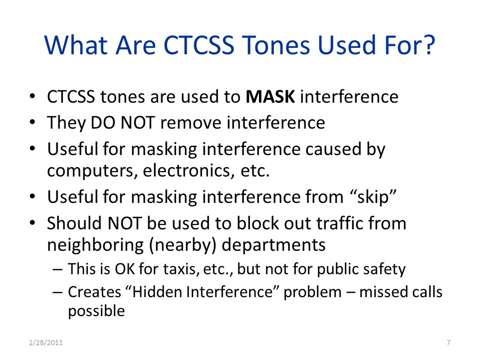 What Are CTCSS Tones Used For