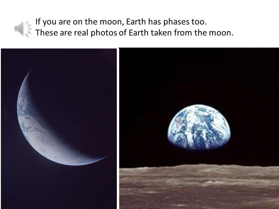 If you are on the moon, Earth has phases too
