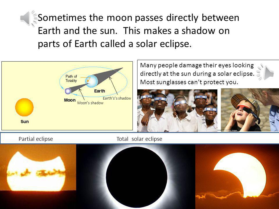 Sometimes the moon passes directly between Earth and the sun