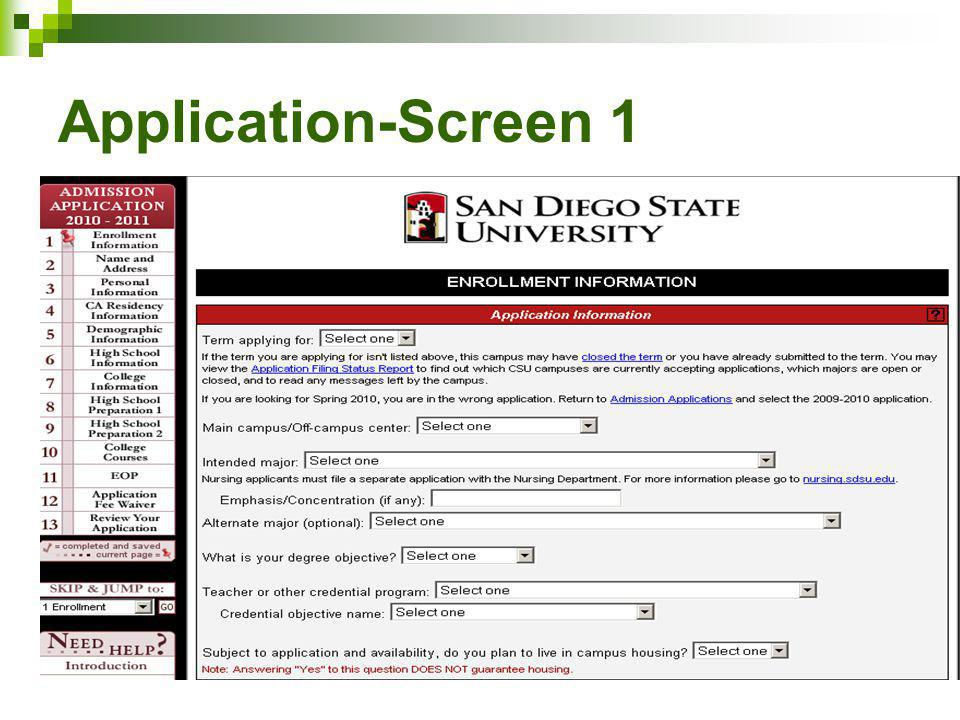 Application-Screen 1