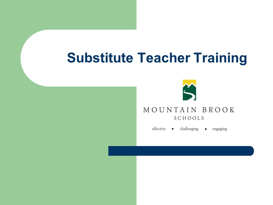 Substitute Teacher Training