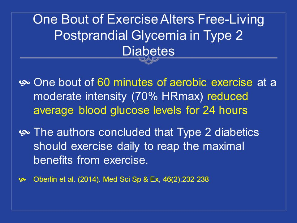 One Bout of Exercise Alters Free-Living Postprandial Glycemia in Type 2 Diabetes