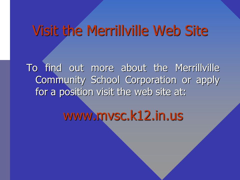 Visit the Merrillville Web Site