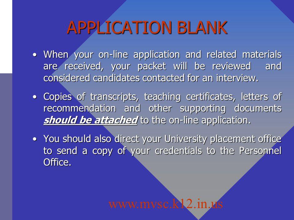 APPLICATION BLANK www.mvsc.k12.in.us
