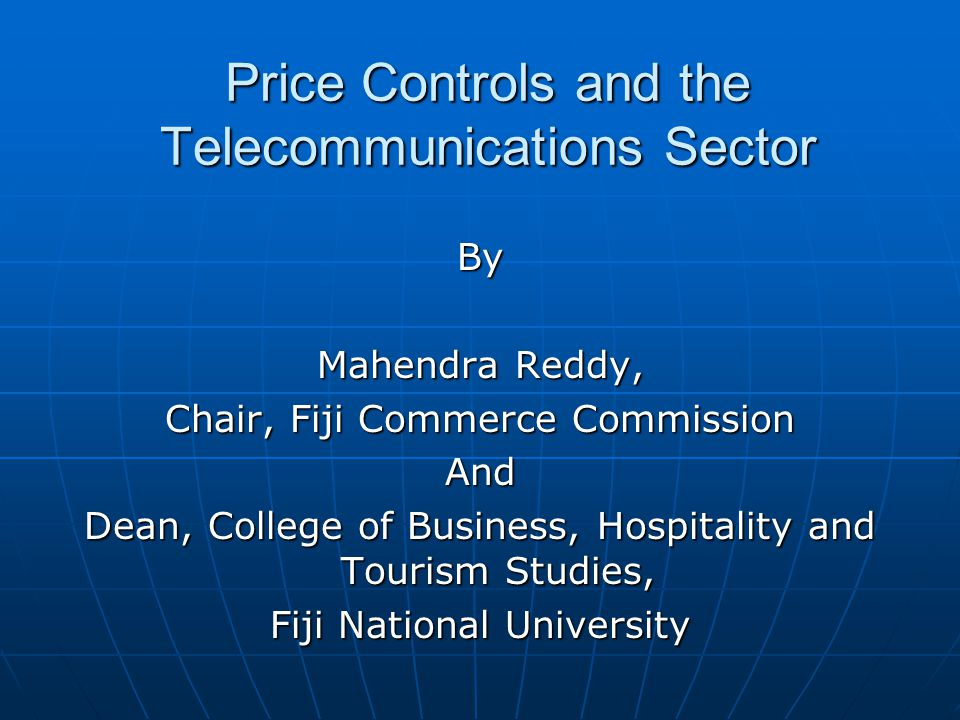 Price Controls and the Telecommunications Sector