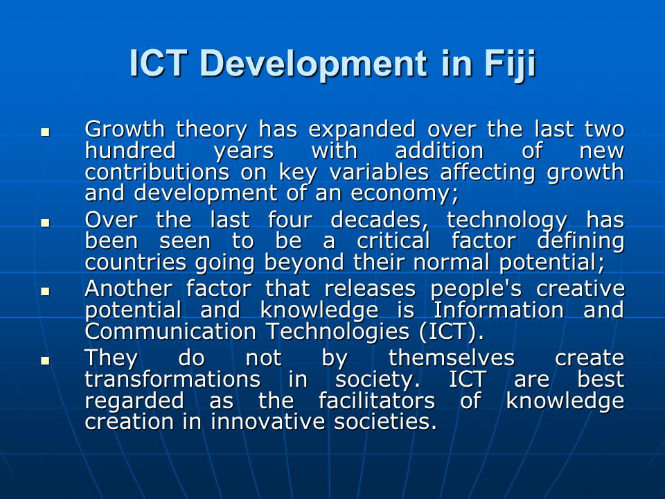 ICT Development in Fiji