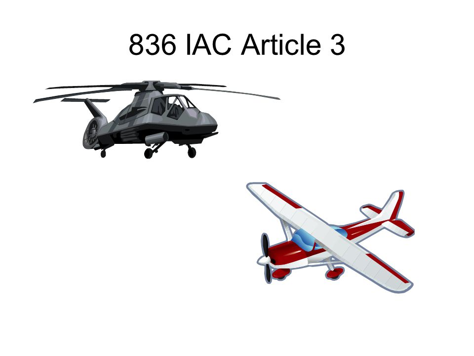 836 IAC Article 3