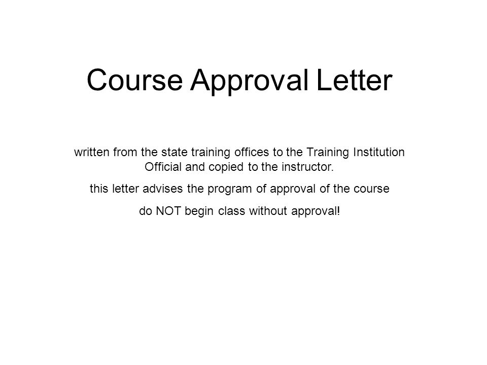 Course Approval Letter