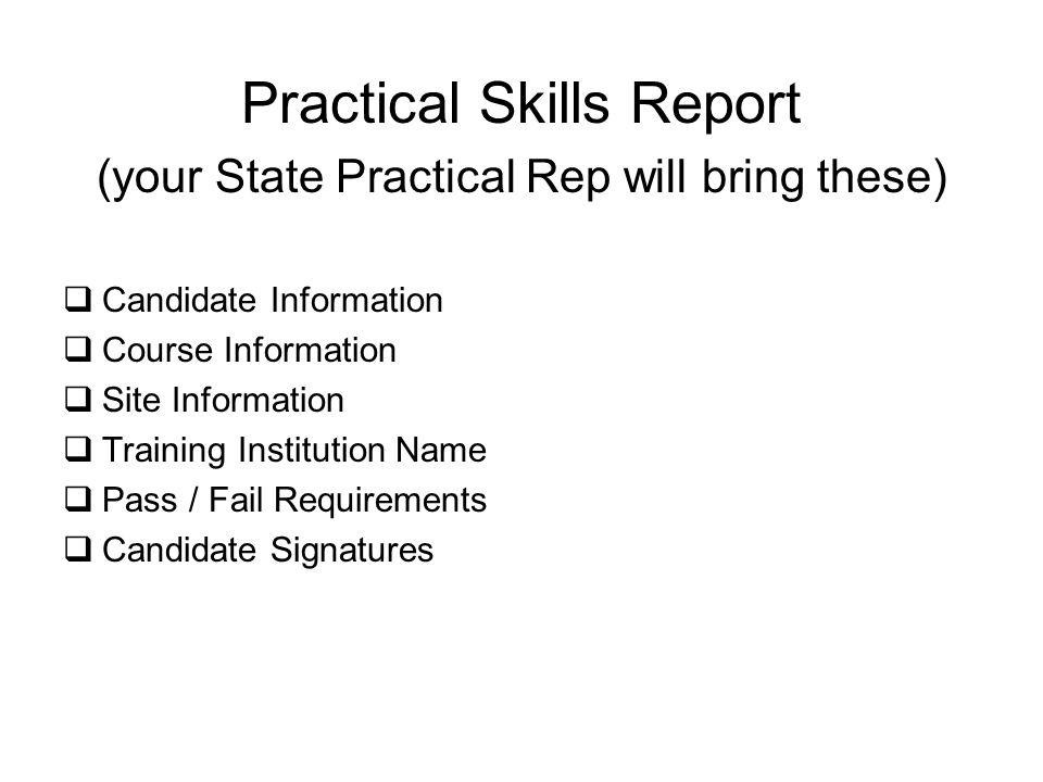 Practical Skills Report