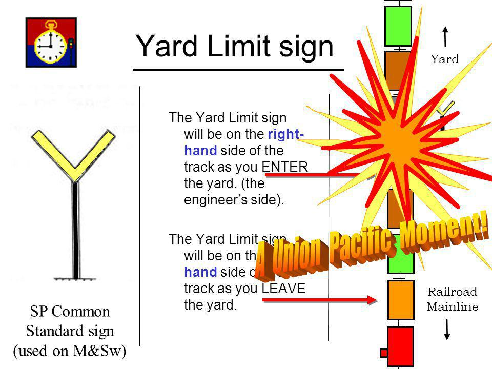 Yard Limit sign A Union Pacific Moment! SP Common Standard sign