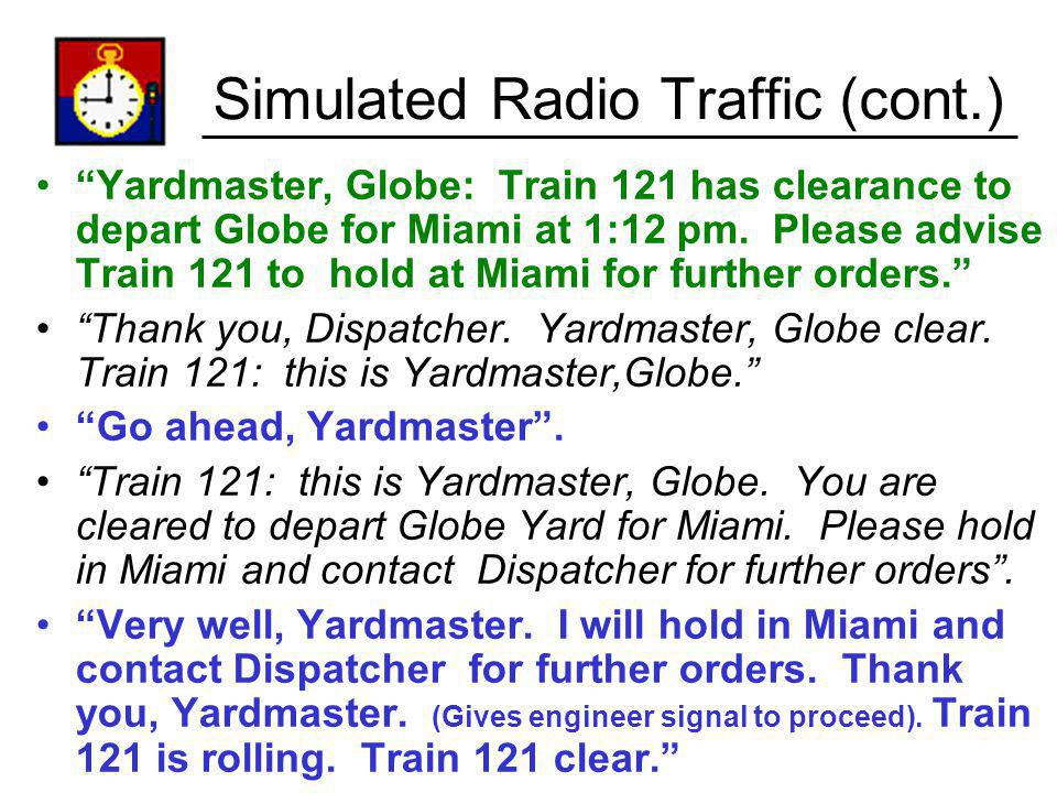 Simulated Radio Traffic (cont.)