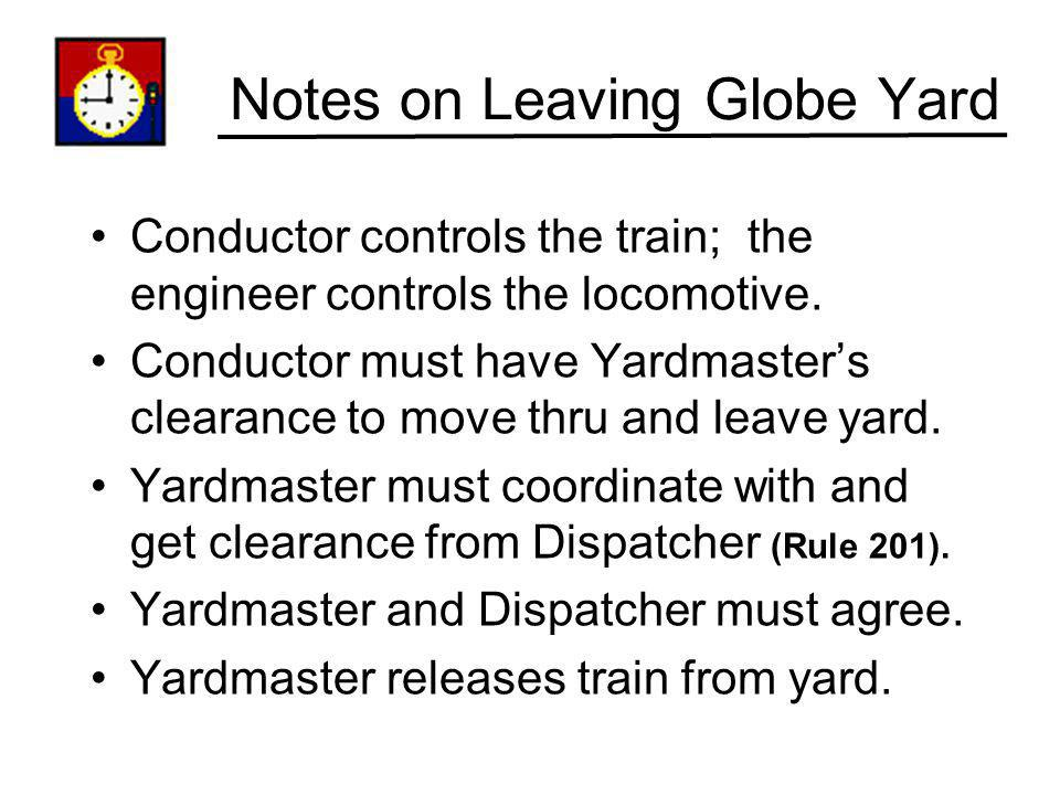 Notes on Leaving Globe Yard