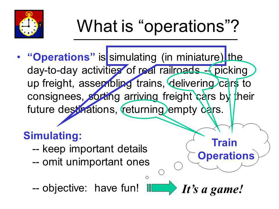 What is operations It's a game!