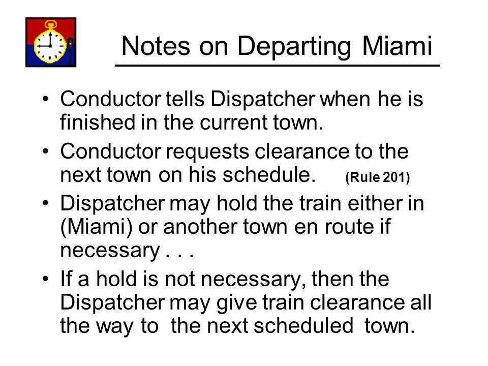 Notes on Departing Miami