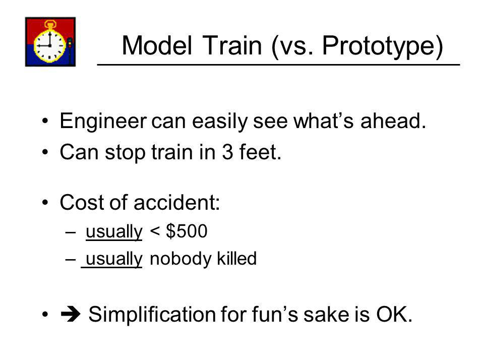 Model Train (vs. Prototype)