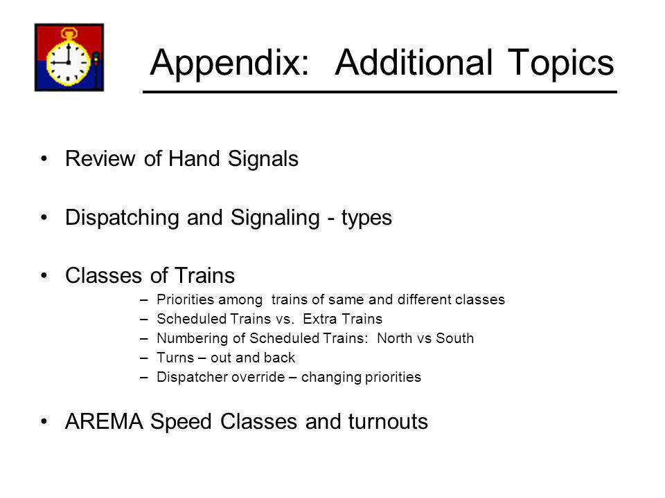 Appendix: Additional Topics