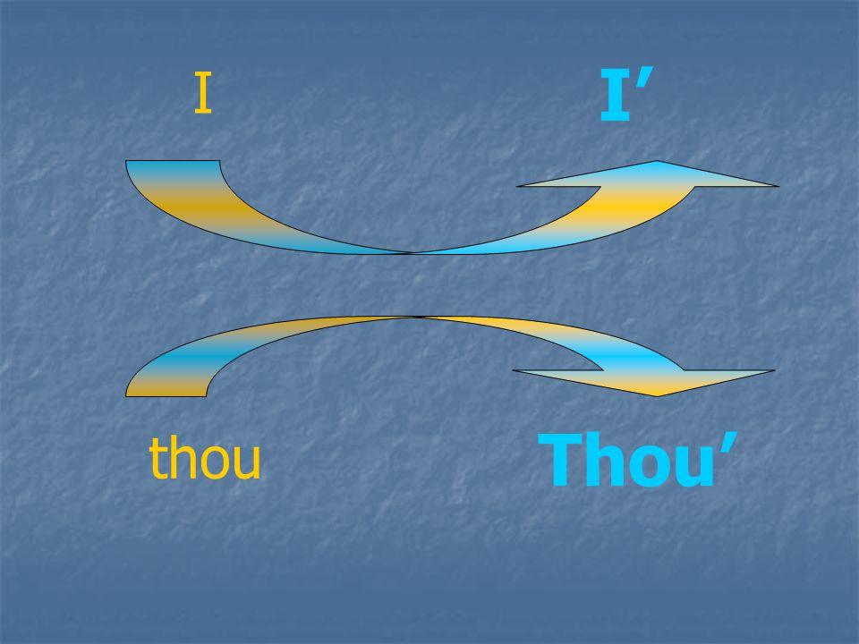 I' I Thou' thou