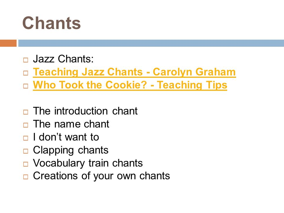 Chants Jazz Chants: Teaching Jazz Chants - Carolyn Graham