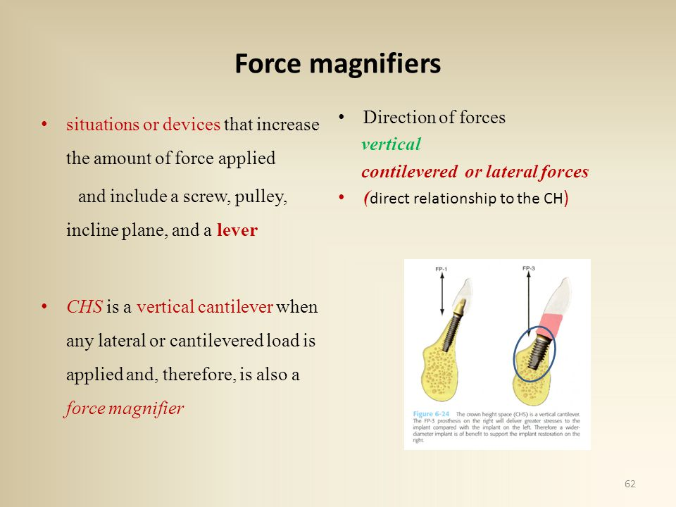 Force magnifiers situations or devices that increase the amount of force applied. Direction of forces.