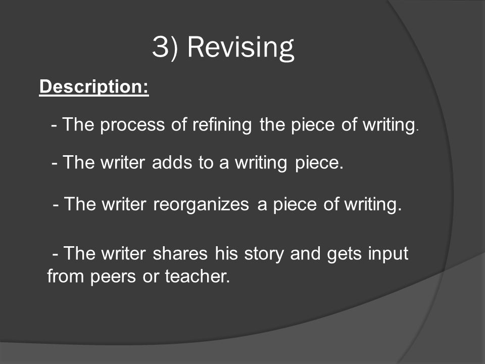 3) Revising Description: