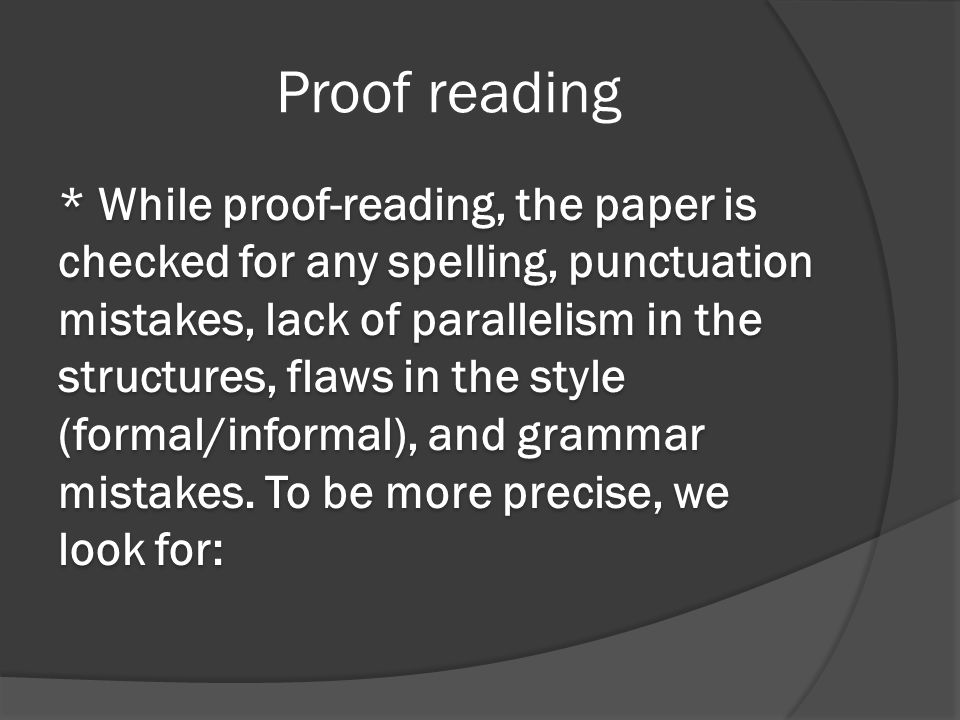 Proof reading