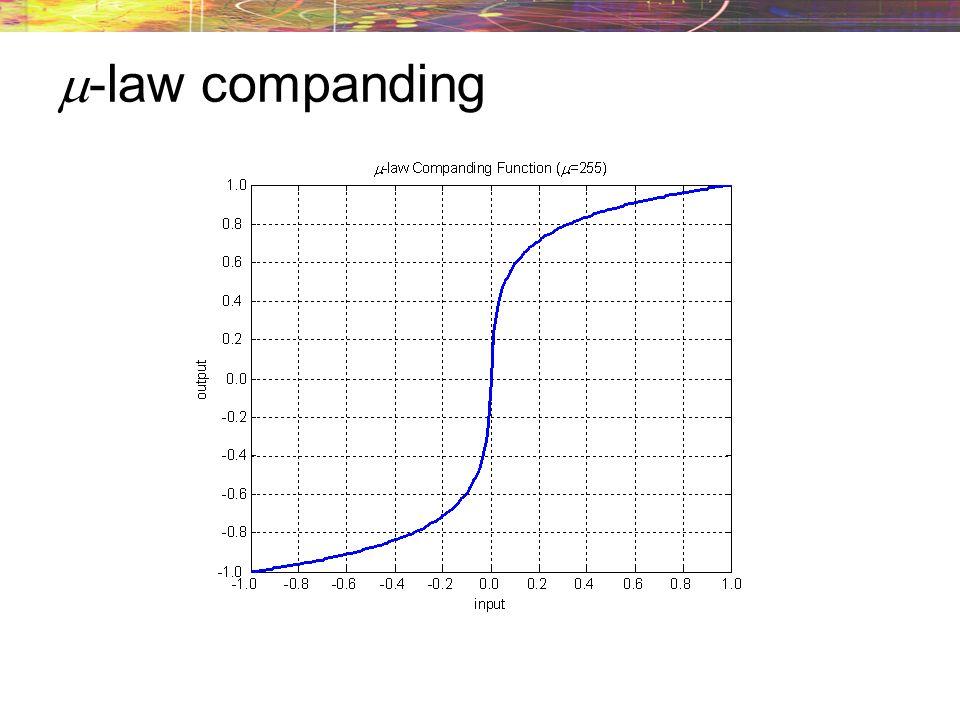 -law companding
