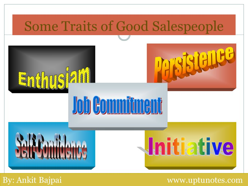 Some Traits of Good Salespeople