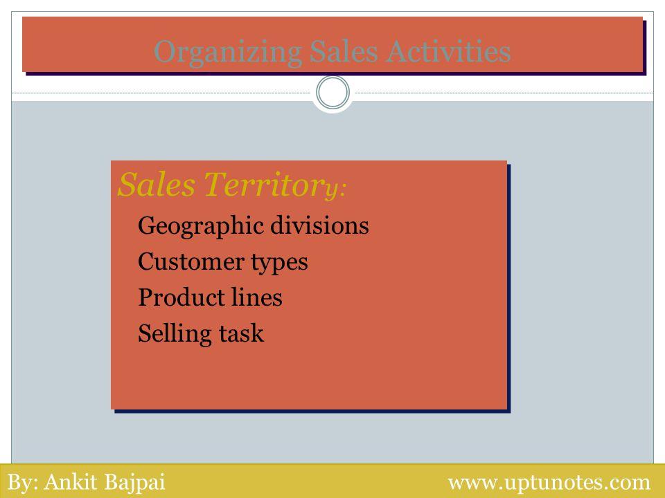 Organizing Sales Activities