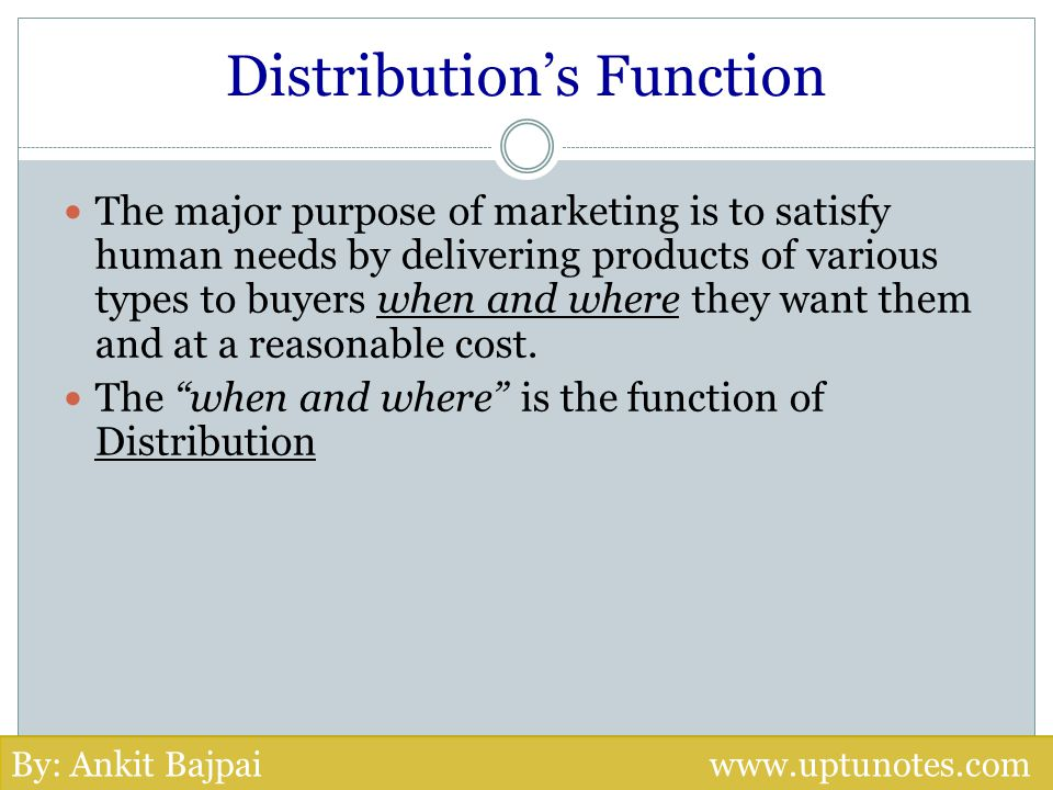 Distribution's Function