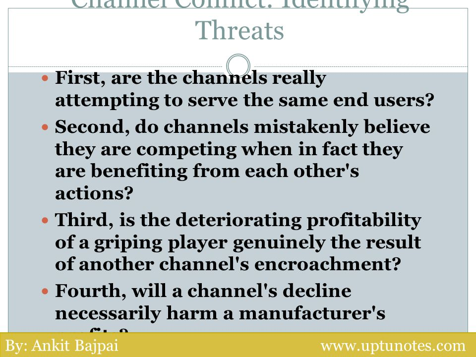 Channel Conflict: Identifying Threats