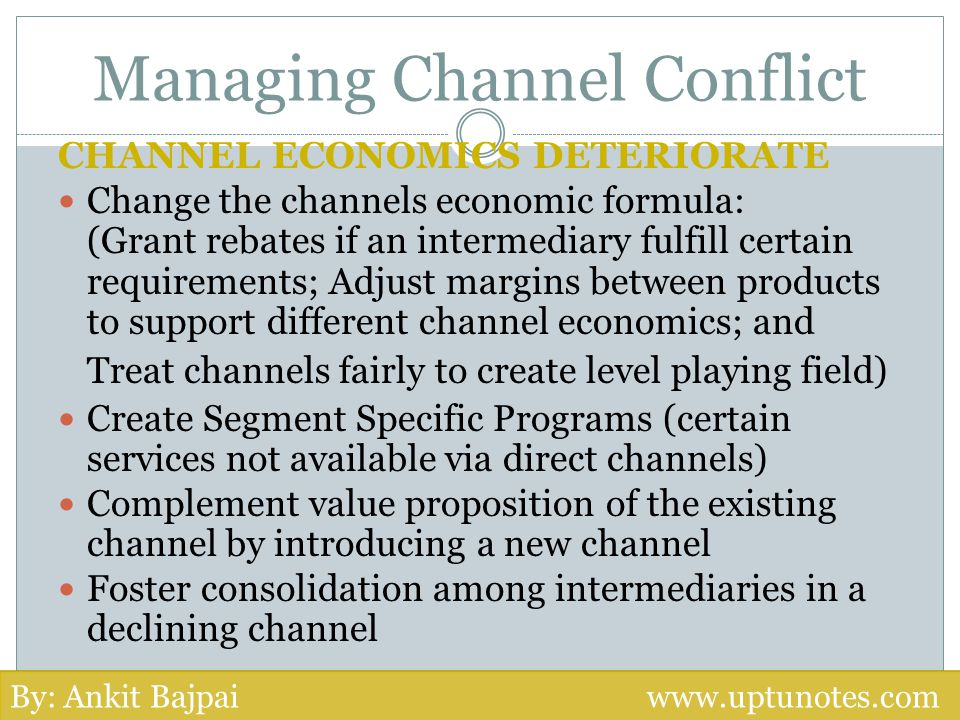 Managing Channel Conflict