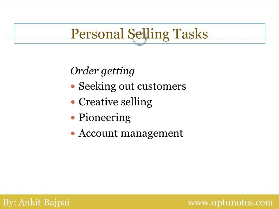Personal Selling Tasks