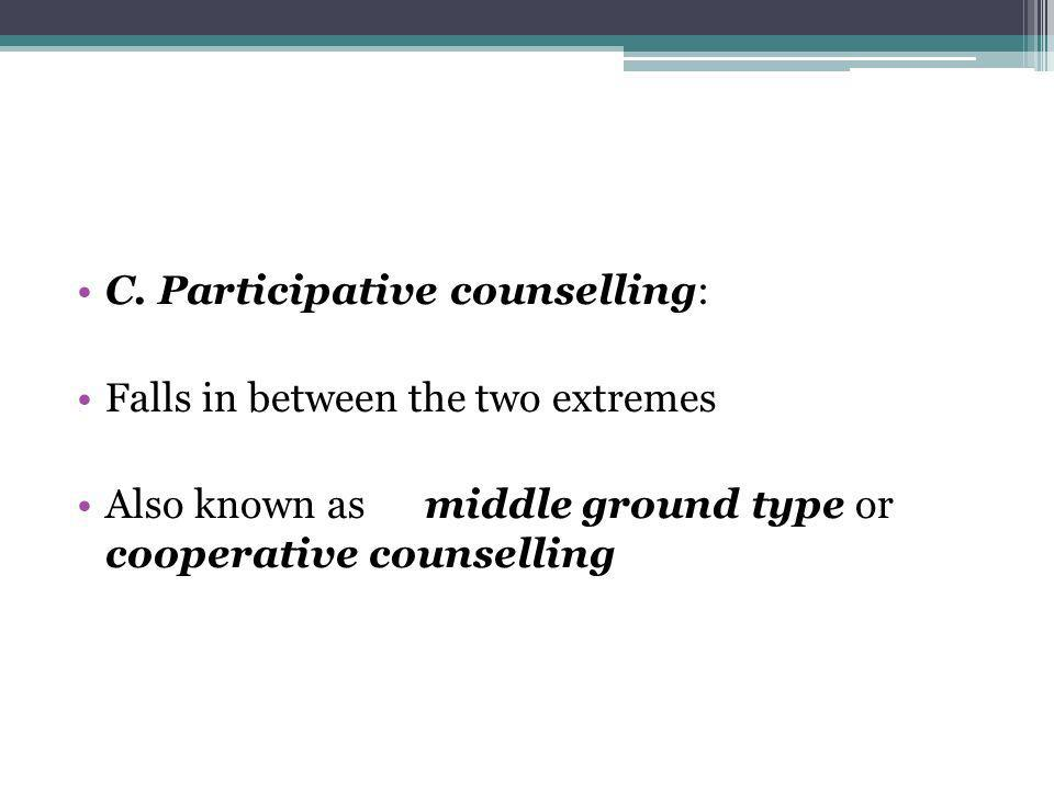 C. Participative counselling: