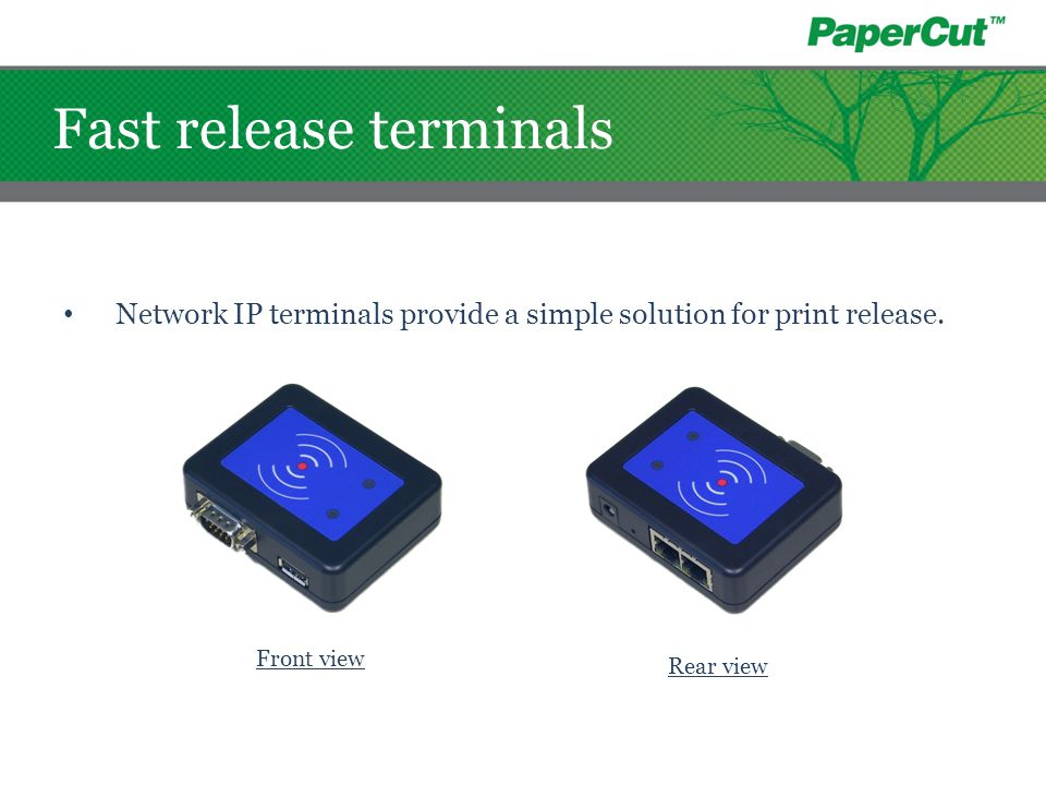Fast release terminals