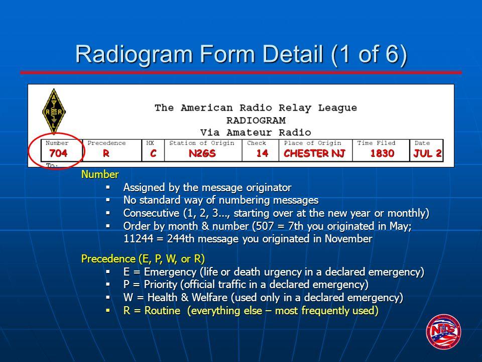 Radiogram Form Detail (1 of 6)