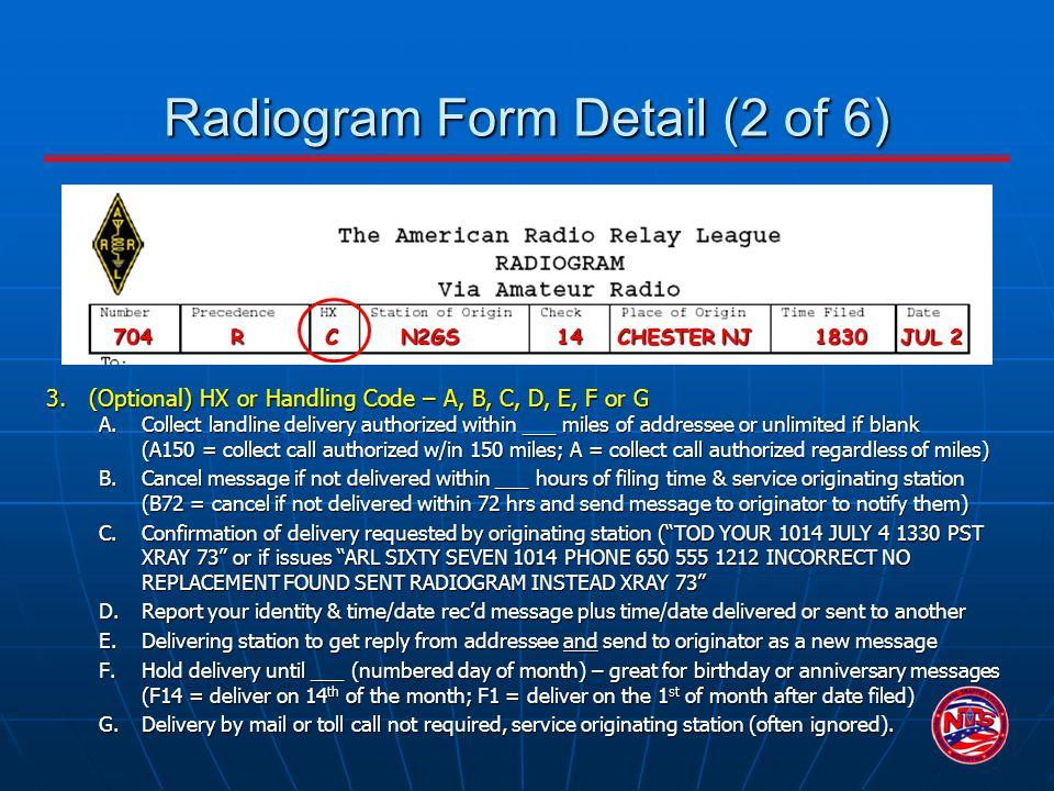 Radiogram Form Detail (2 of 6)