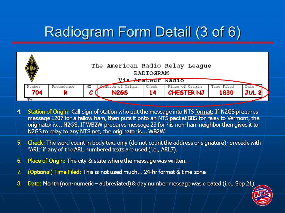 Radiogram Form Detail (3 of 6)