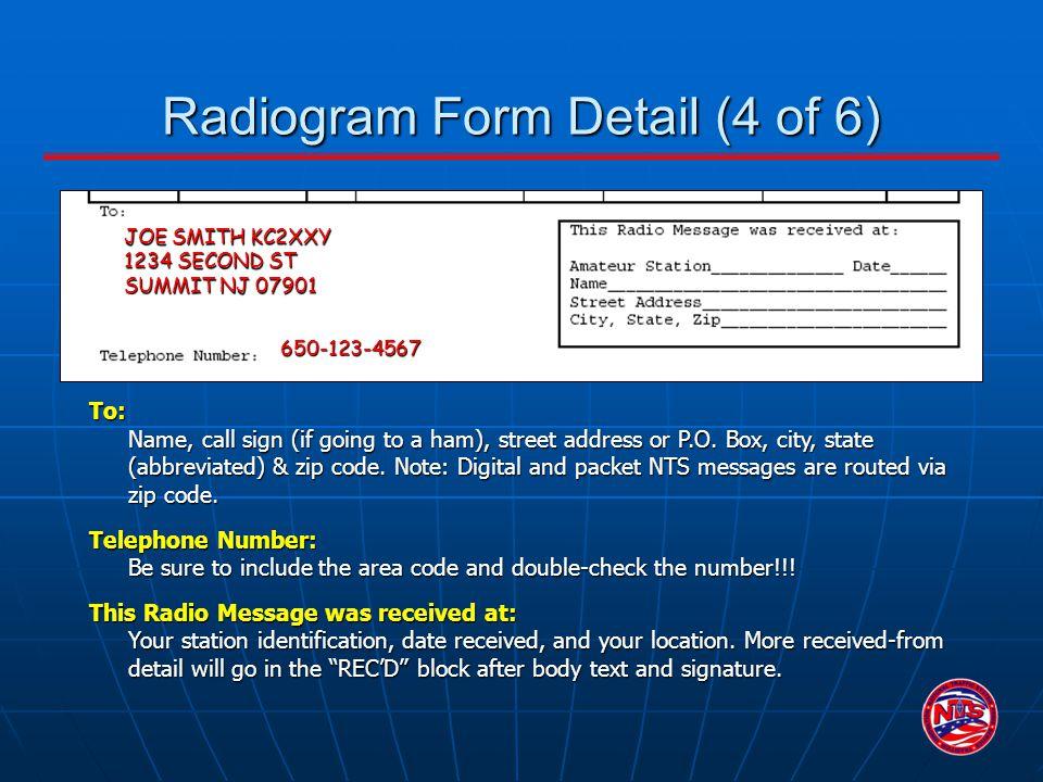 Radiogram Form Detail (4 of 6)