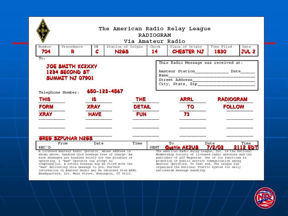 austin AK2US 7/2/03 2112 EDT 704 R C N2GS 14 CHESTER NJ 1830 JUL 2