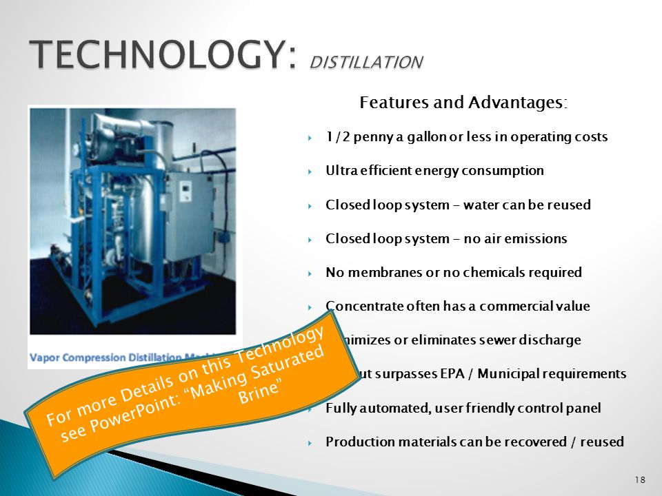 TECHNOLOGY: DISTILLATION