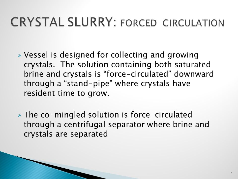 CRYSTAL SLURRY: Forced circulation