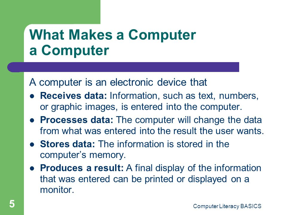 What Makes a Computer a Computer