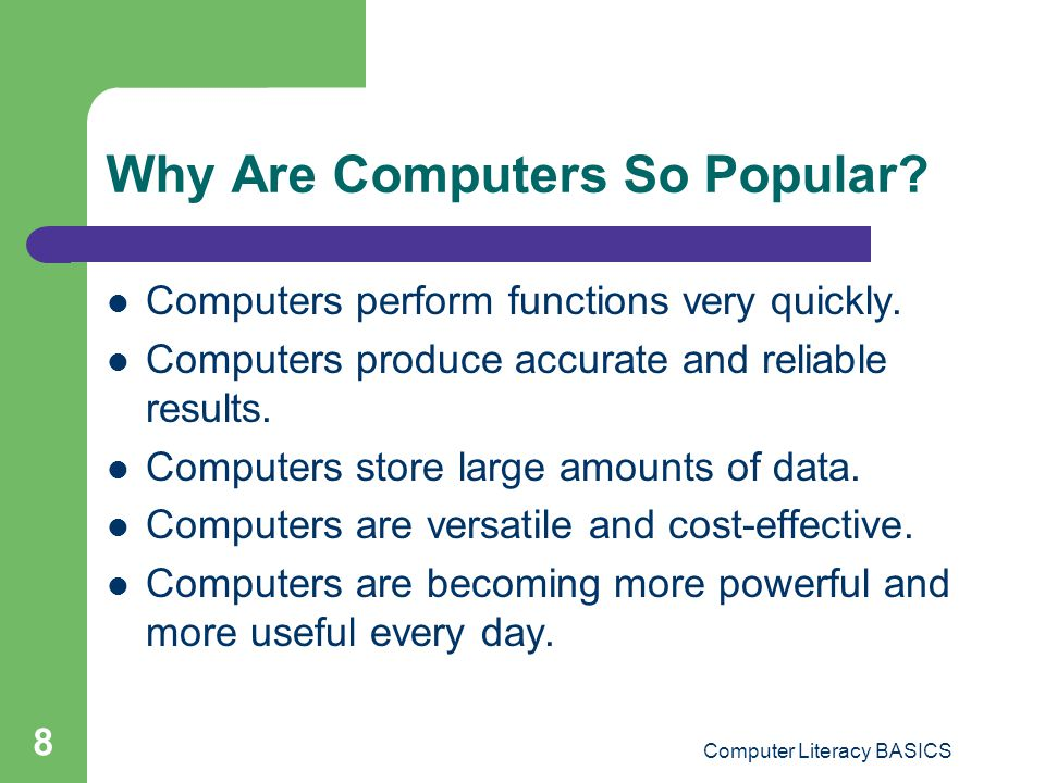 Why Are Computers So Popular