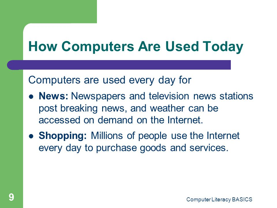 How Computers Are Used Today